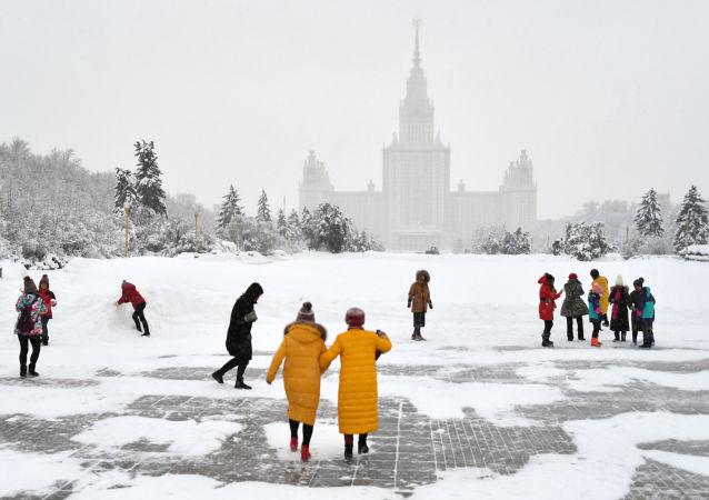 Nevicate a Mosca