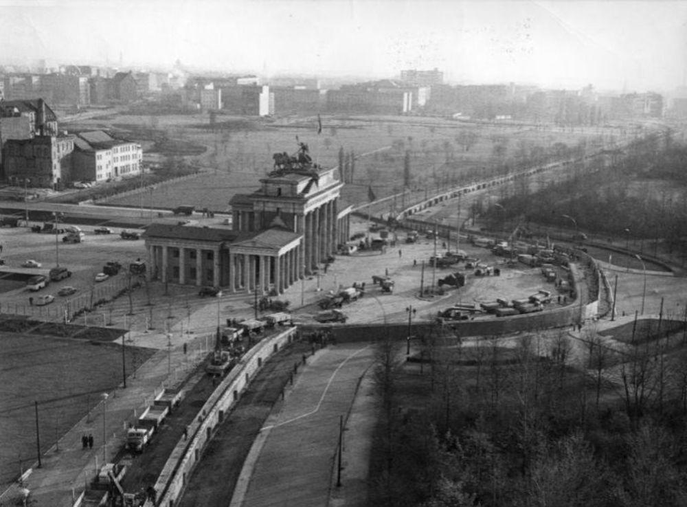 Il Muro di Berlino e la Porta di Brandeburgo
