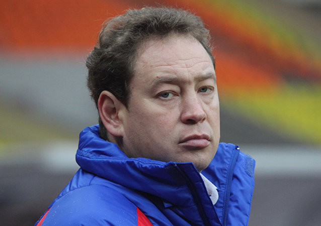 CSKA head coach Leonid Slutsky during CSKA (Moscow) vs. Rubin (Kazan) match - 0:2