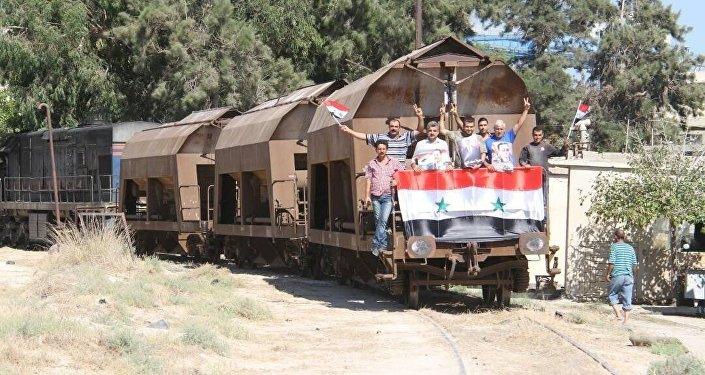 Residenti di Aleppo, Siria.