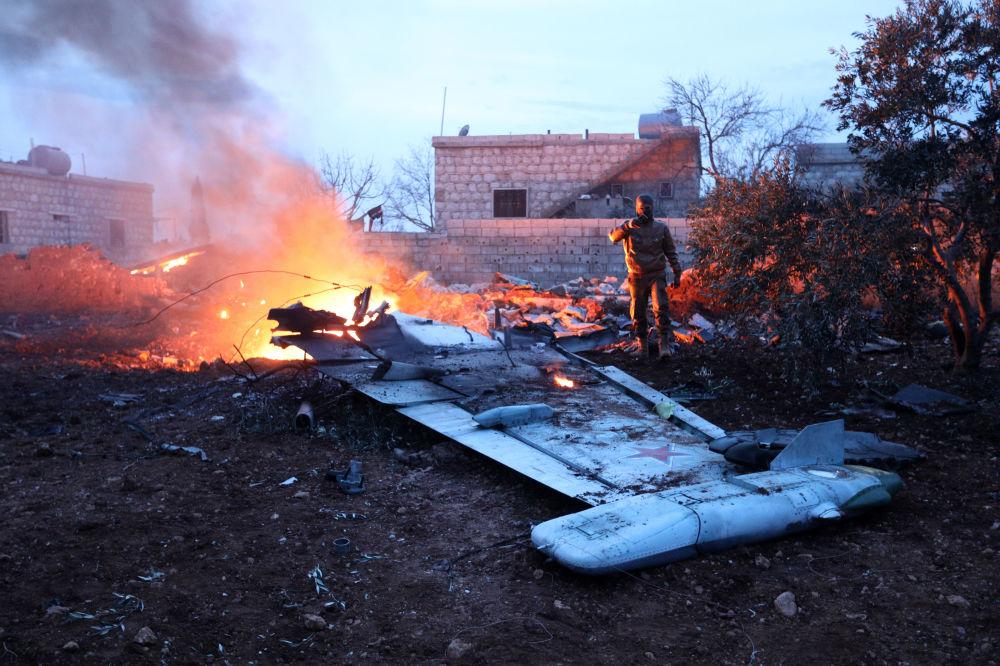 Il caccia Su-25 abbattuto in Siria