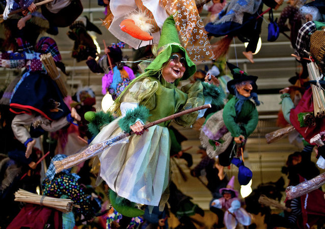 La Befana, an old woman who delivers gifts to children throughout Italy on Epiphany Eve.
