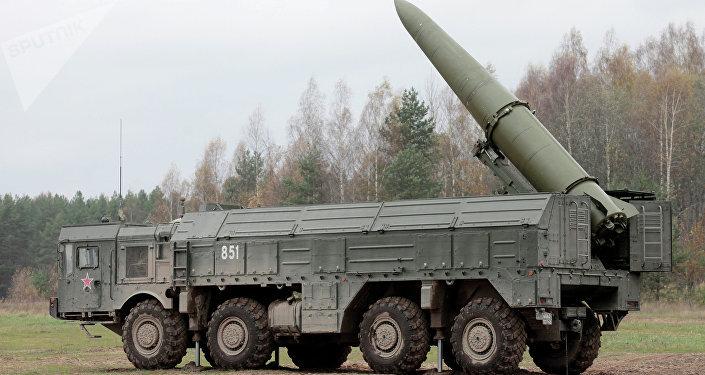 Una batteria missilistica mobile Iskander