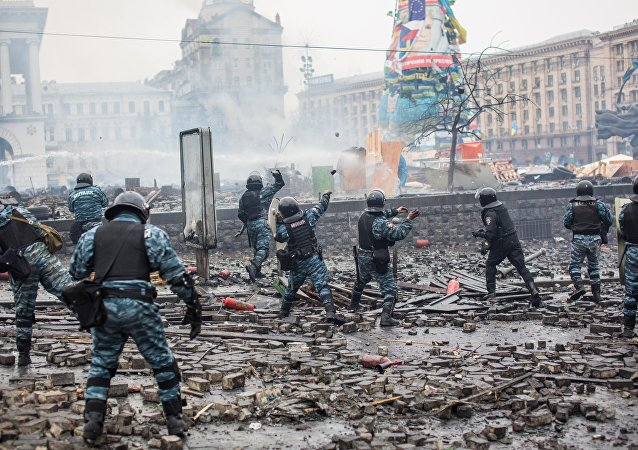 Scontri a Maidan (foto d'archivio)