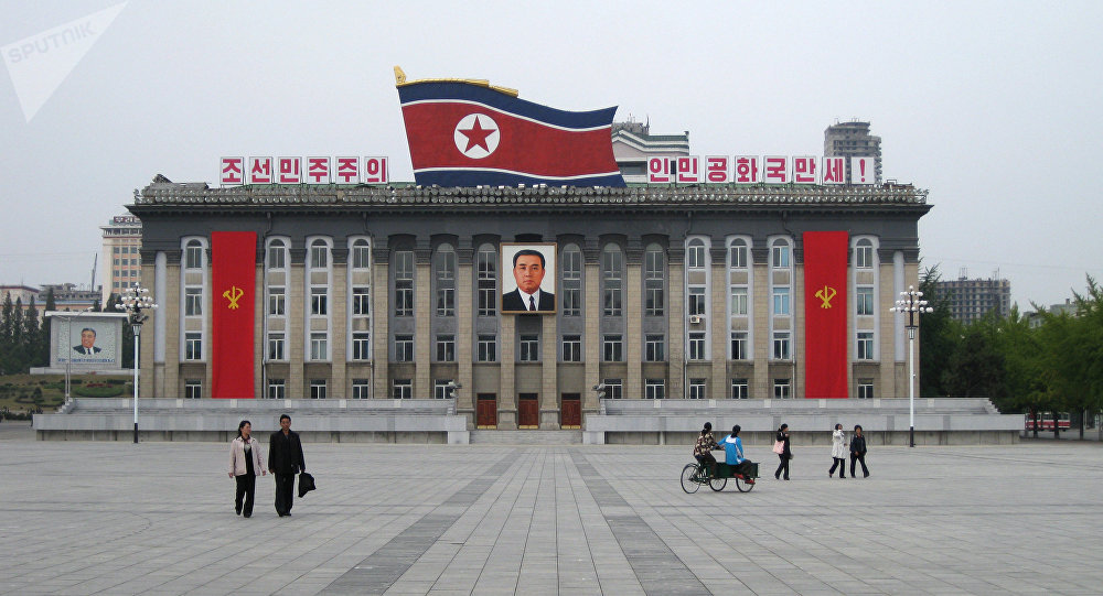 The Central Square, named after Korea's found Kim Il Seng, in Pyongyang. File photo
