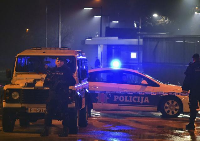 Polizia presso Ambasciata americana in Montenegro