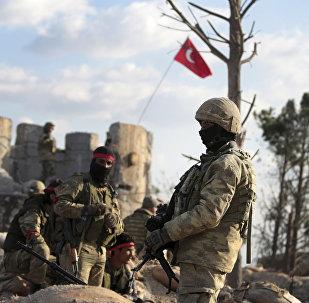 Soldati filo-turchi ad Afrin