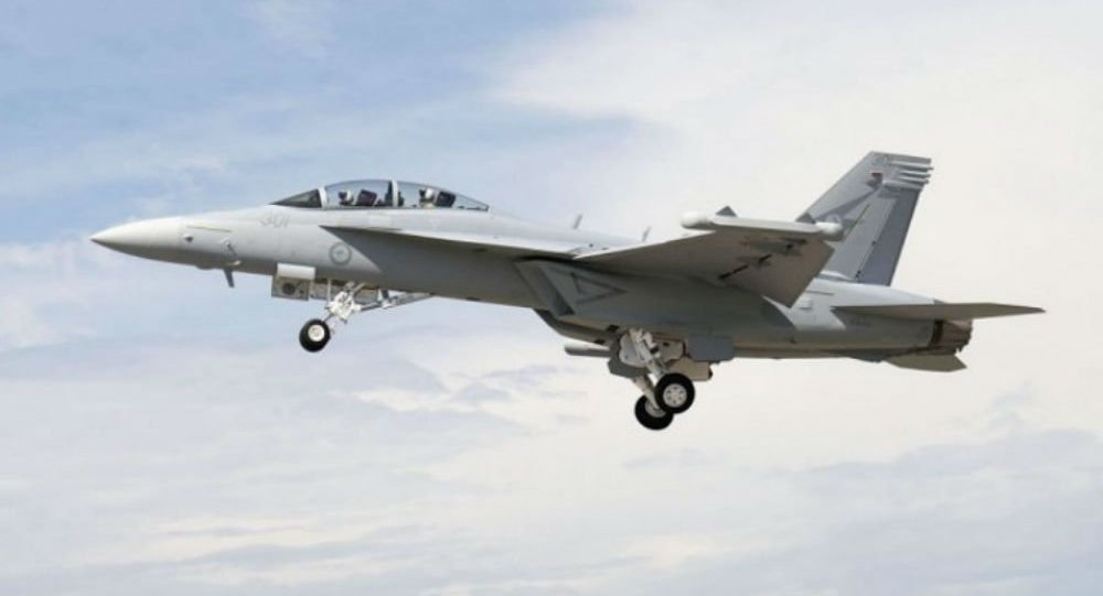 Un EA-18G Growler dell'aviazione australiana