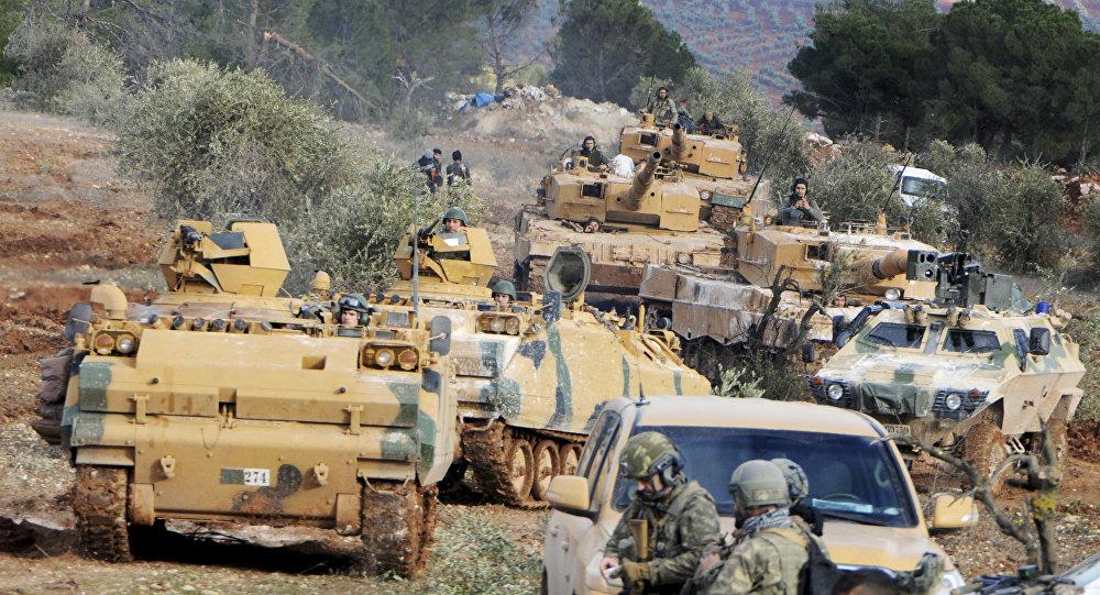 Forze turche verso Afrin