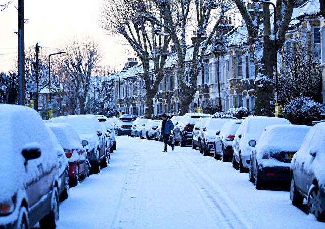 Nevicata a Londra (foto d'archivio)