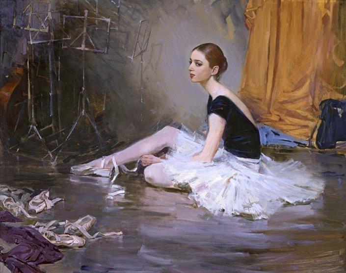 Ritratto di una ballerina di M. Aldoshin