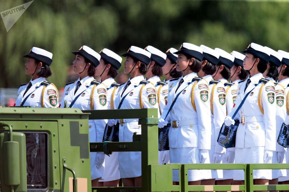 Una grande parata militare a Pechino.