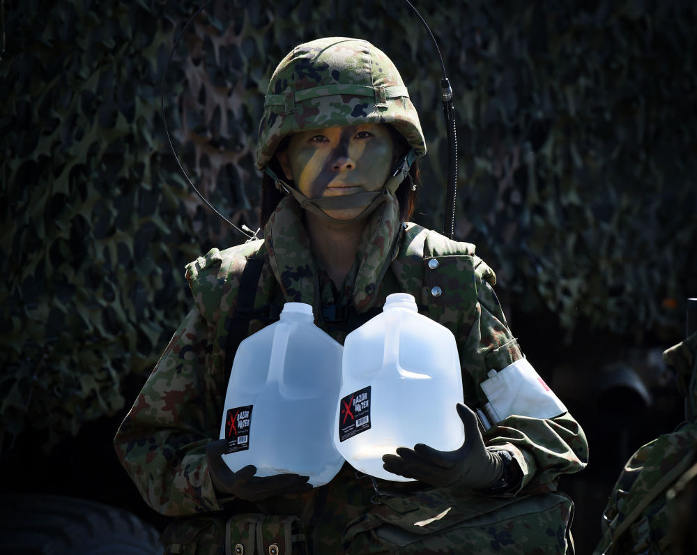 Una donna soldato giapponese.