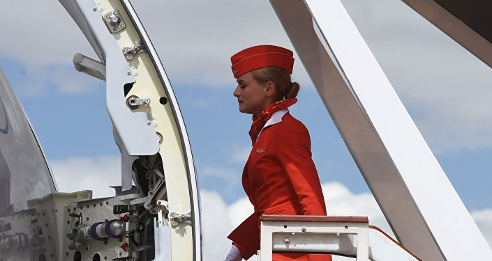 Una hostess Aeroflot