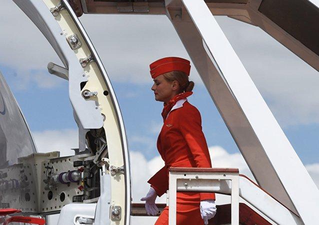 Una hostess Aeroflot