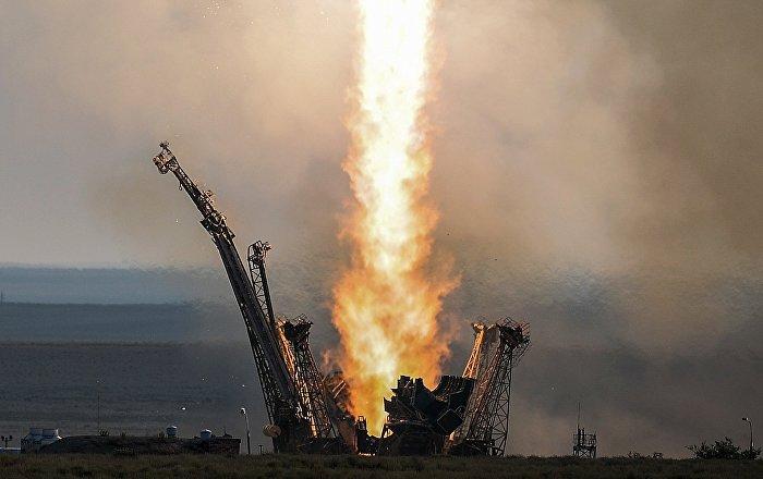 Lancio della navicella Soyuz-FG dal cosmodromo Baikonur