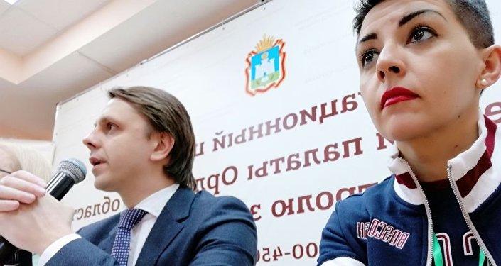 Simona Rossotti alla commissione elettorale regionale di Orel