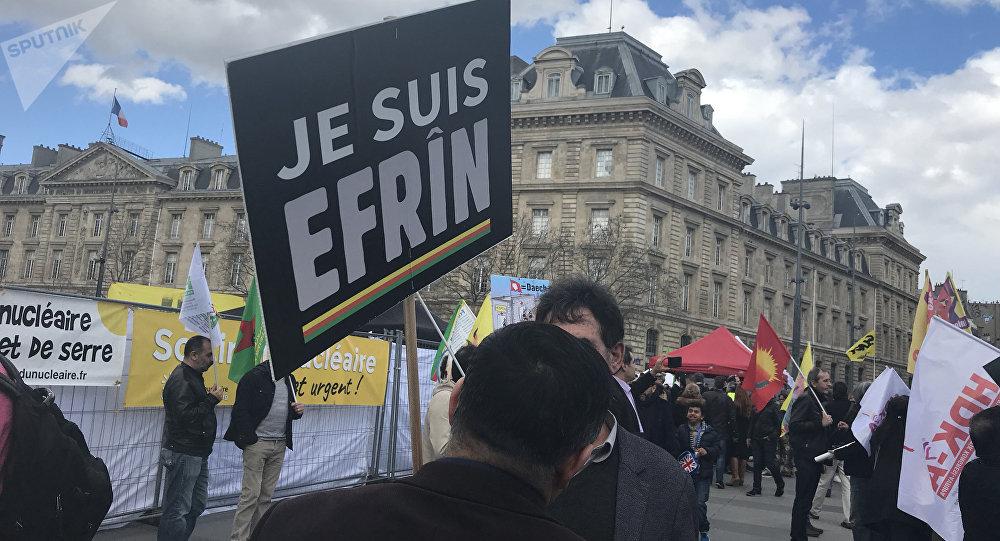 Manifestazione filo-curda a Parigi