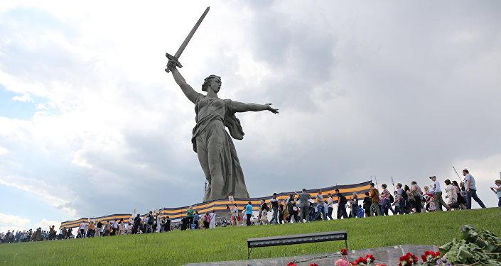 Il corteo del Reggimento Immortale a Volgograd