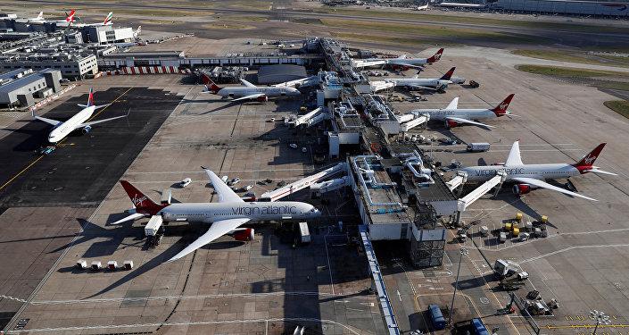 L'aeroporto di Heathrow vicino Londra