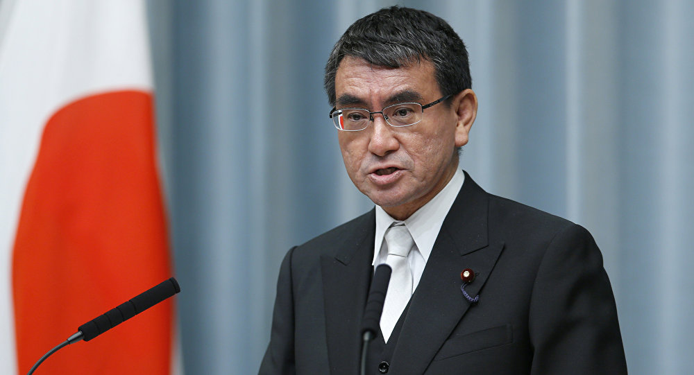 Il Ministro degli esteri del Giappone Taro Kono