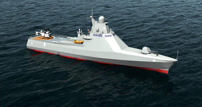 Modello della nave del progetto 22160 Viktor Vekily