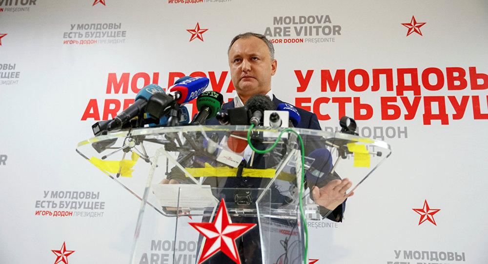 Presidente della Moldavia Igor Dodon
