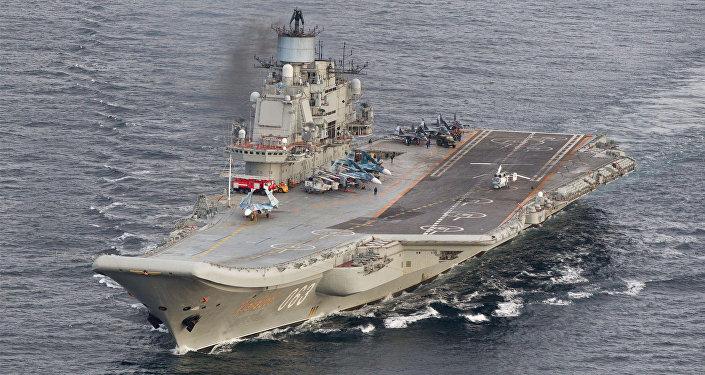 """Russia: scoppiato un'incendio sulla portaerei """"Ammiraglio Kuznetsov"""""""