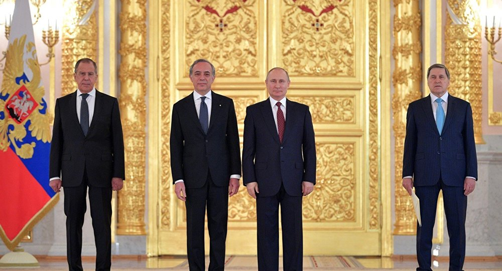 L'ambasciatore Pasquale Terracciano presenta lettere credenziali a Vladimir Putin