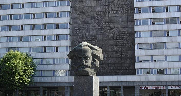 Monumento a Karl Marx a Chemnitz, Germania