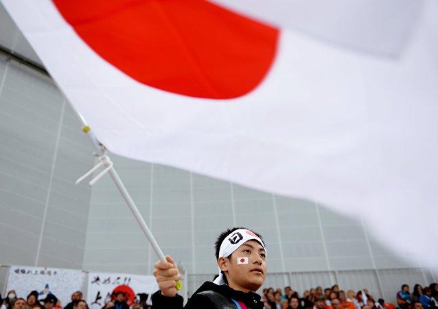 La bandiera nipponica