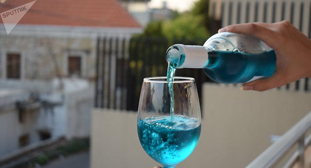 Il vino blu