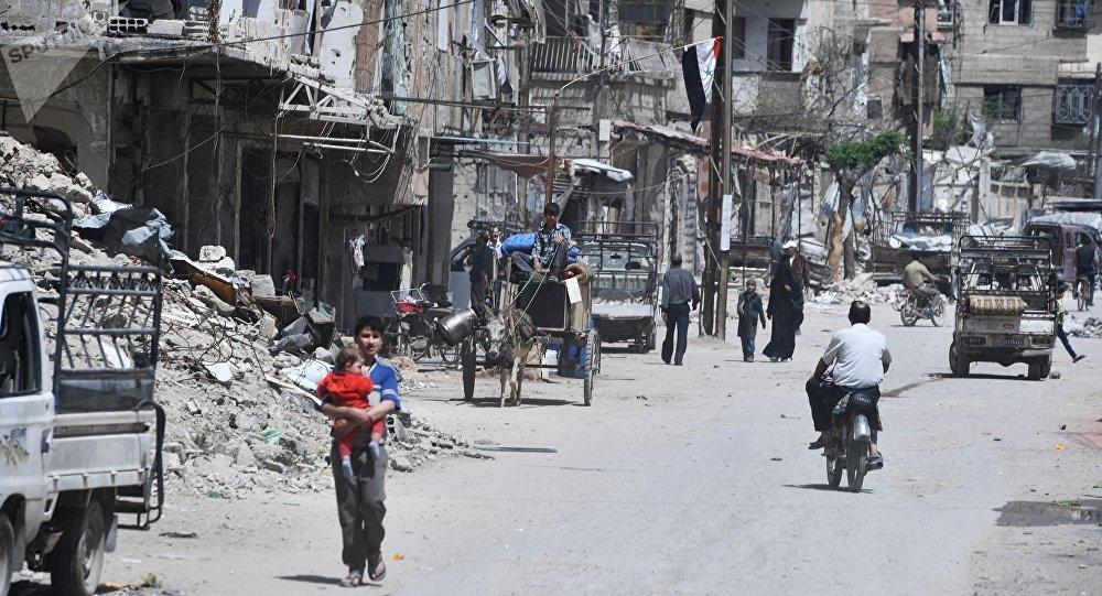 Douma dopo la liberazione dai terroristi