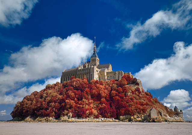 Mont Saint-Michel d'autunno