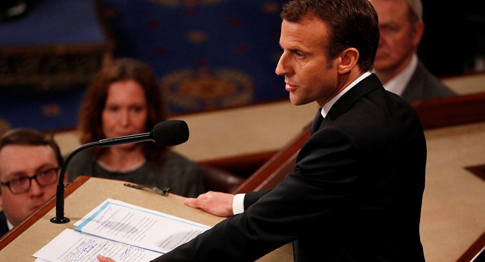 Emmanuel Macron al Congresso USA