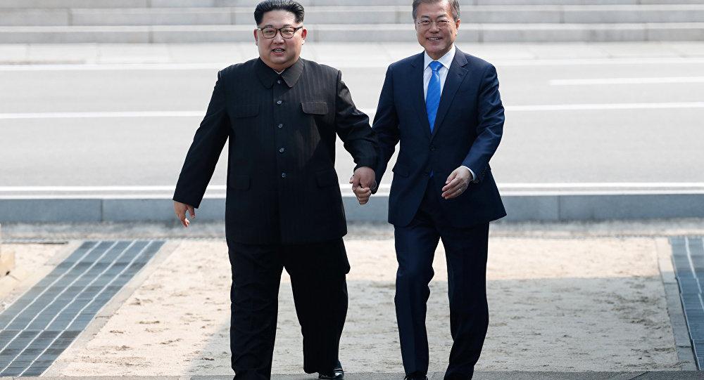 Kim Jong-un e Moon Jae-in