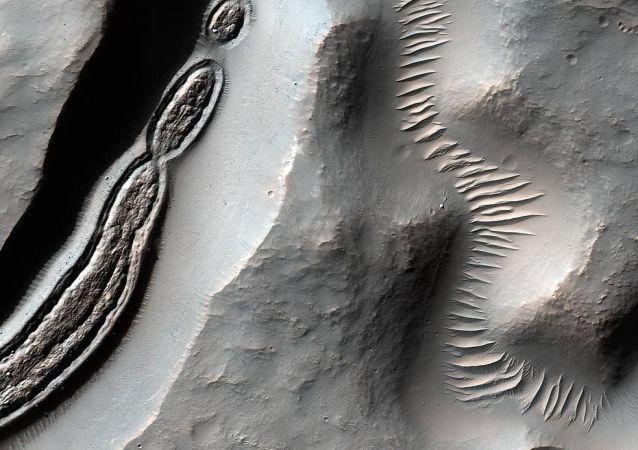La superficie di Marte.