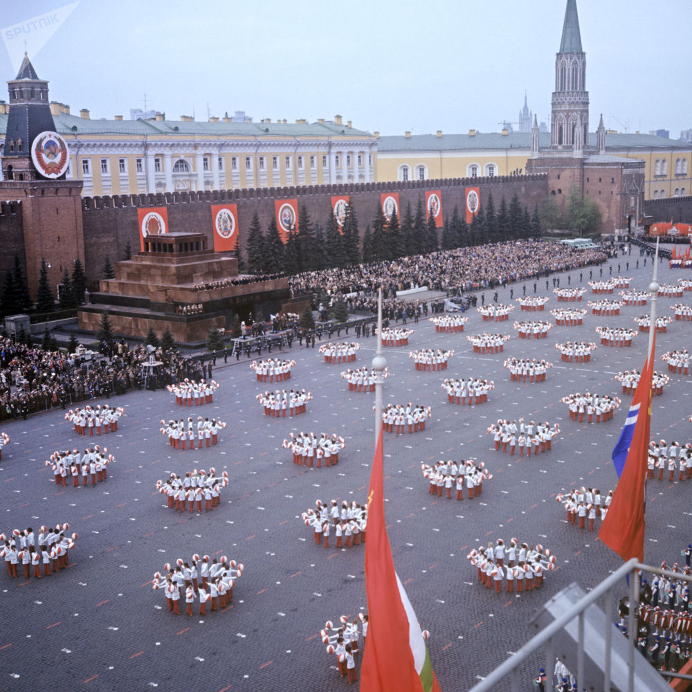 Le celebrazioni del Primo maggio in piazza Rossa a Mosca, 1973.