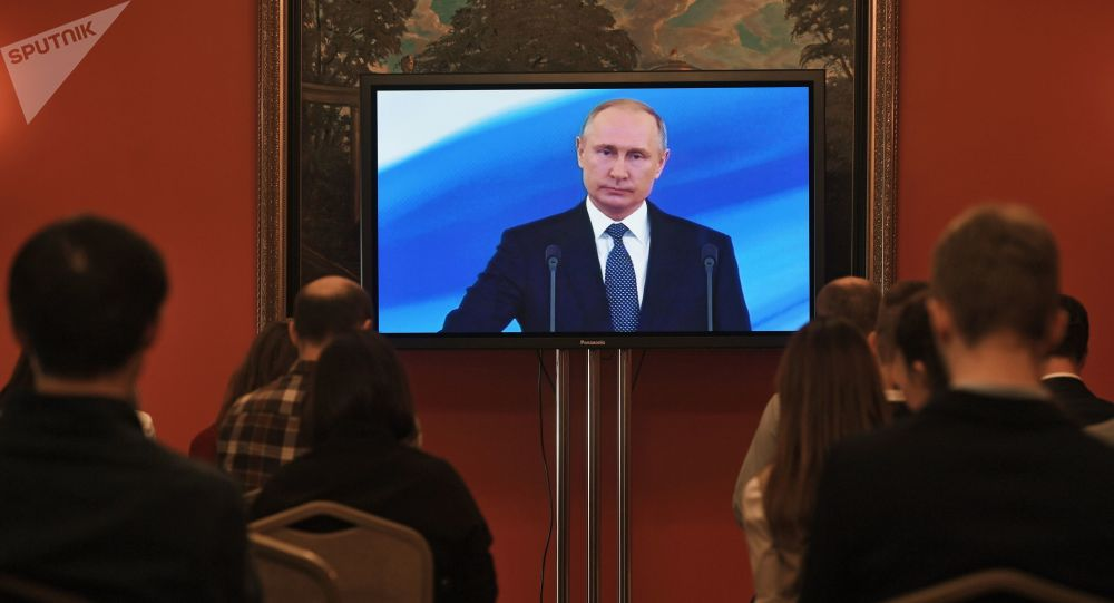 Vladimir Putin durante insediamento