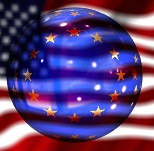 Bandiere di USA e UE