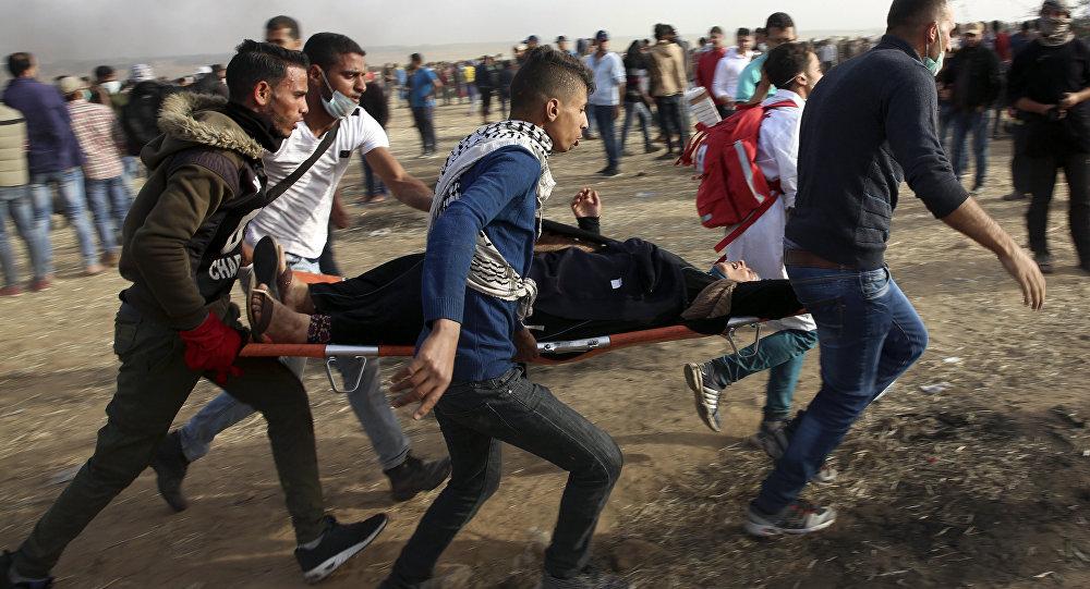 Scontri a Gaza (foto d'archivio)