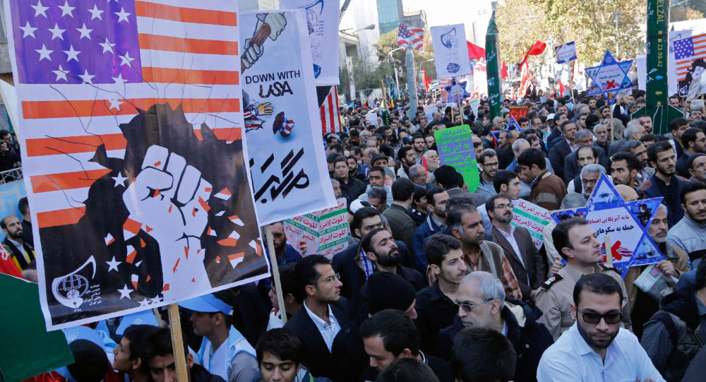 Le proteste contro gli USA in Iran per l'anniversario della presa dell'ambasciata USA a Teheran del 1979