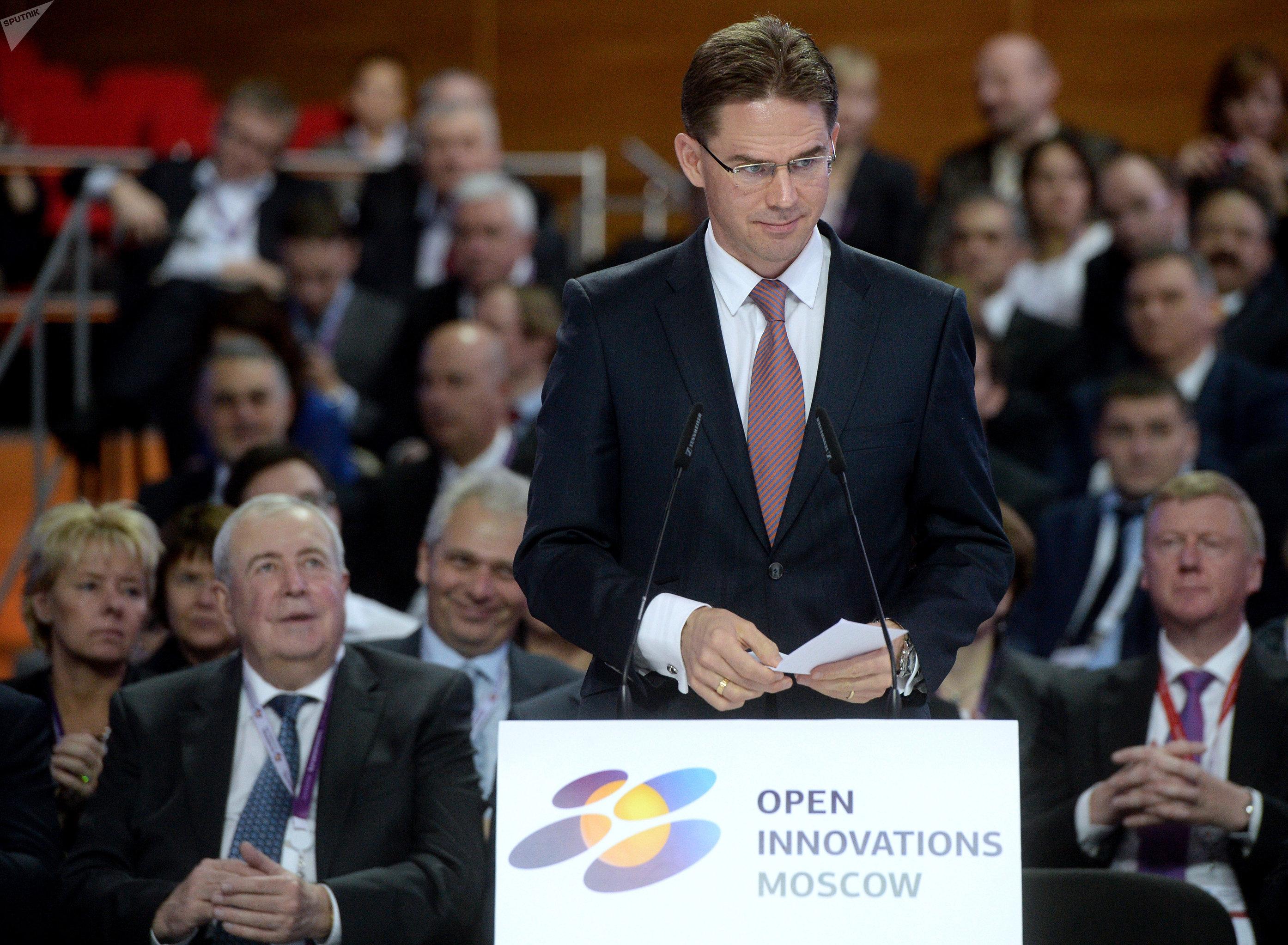 Jyrki Katainen al forum Innovazioni aperte a Mosca