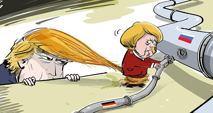 Il presidente Donald Trump ha proposto alla cancelliera tedesca Angela Merkel un nuovo accordo commerciale tra USA ed UE in cambio della rinuncia alla costruzione del Nord Stream 2.