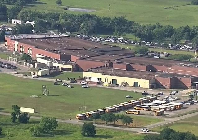 La scuola superiore di Santa Fe, Texas.