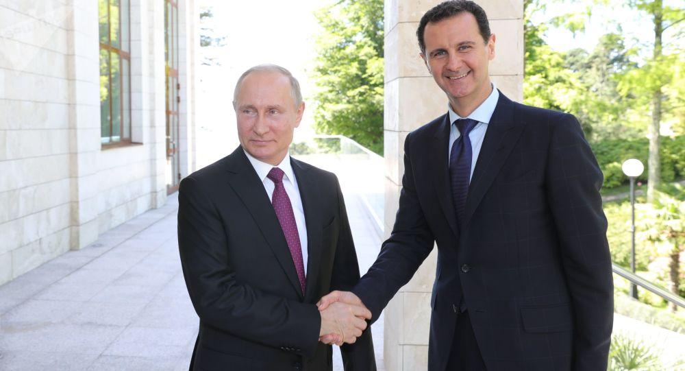 Il presidente russo Vladimir Putin e il presidente siriano Bashar al-Assad si sono incontrati a Sochi.