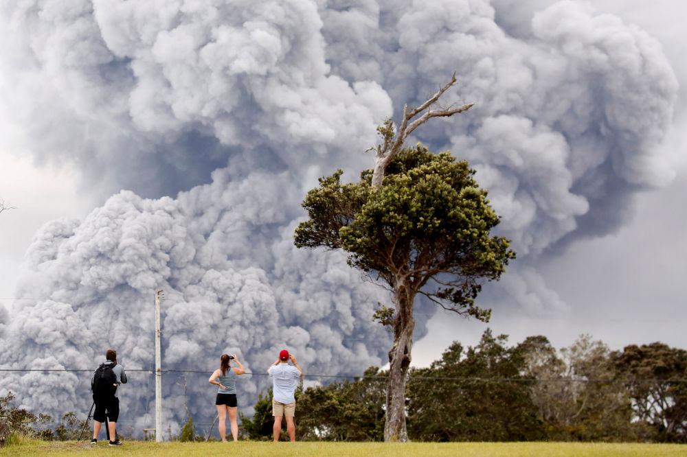 L'erruzione del vulcano Kilauea sulla Hawaii, USA.