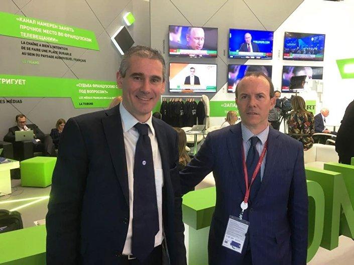 Paolo Grimoldi, a sinistra, e Gianluca Savoini allo Spief 2018