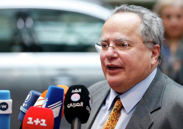 Ministro degli Esteri greco Nikos Kotzias