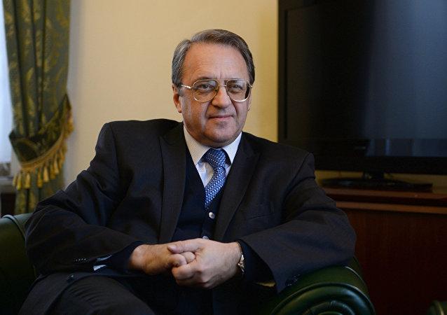 Il viceministro degli Esteri russo, Mikhail Bogdanov